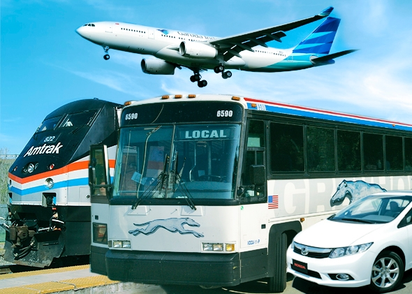 Bus vs Flying