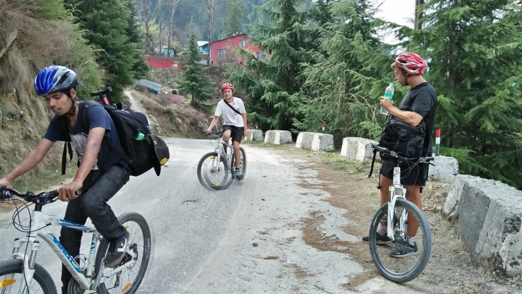 Sports Bike Ride In Himalaya